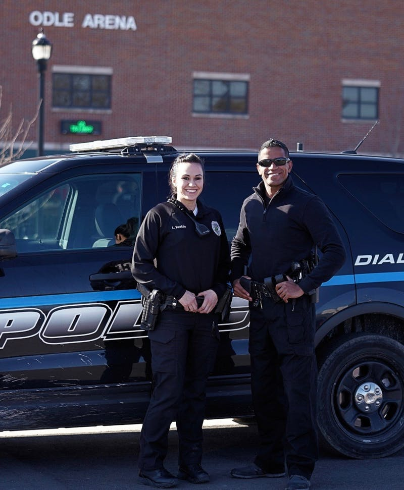Officers Lauren Yeakle and Samuel Fowler want to serve the Taylor community to the best of their abilities.