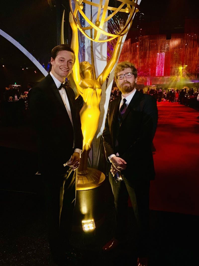 Nick Chamberlain ('15) and Bill Parker ('12) were nominated for a national Emmy award.