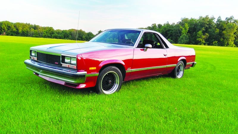 Professor Dale Keller's 1983 Chevrolet El Camino shines brightly in the sun awaiting a driver. (Photograph provided by Dale Keller)