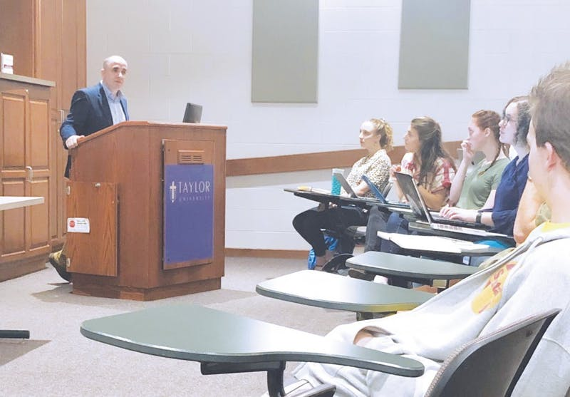 Blevins gives advice to journalism students regarding integrating faith and career.