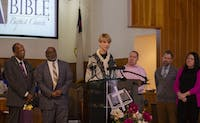 Interim President Paige Cunningham joined the Civil Rights Bus Tour the weekend preceding Martin Luther King.