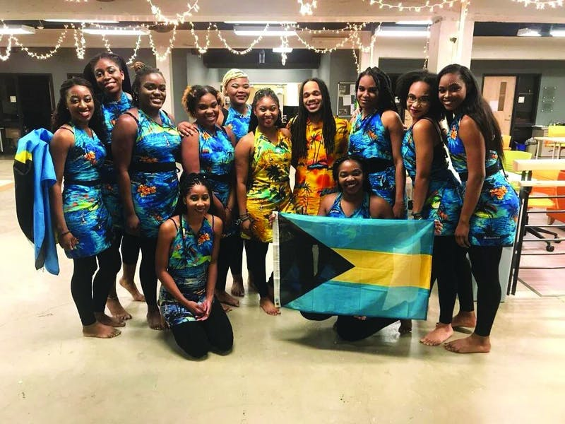 Clad in tropical outfits and bright smiles, the Bahamians represented their country with an exciting performance.