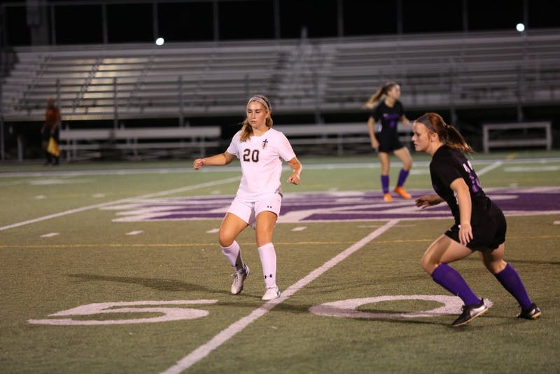 Women's soccer netted three goals in the win against St. Francis