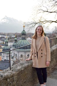 Emma Hagan in Salzbourg, Austria during her time studying abroad.