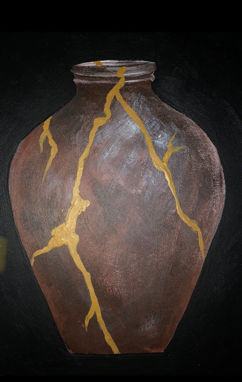 Kintsugi art, which puts broken pieces back together, images how Christ unites his people.