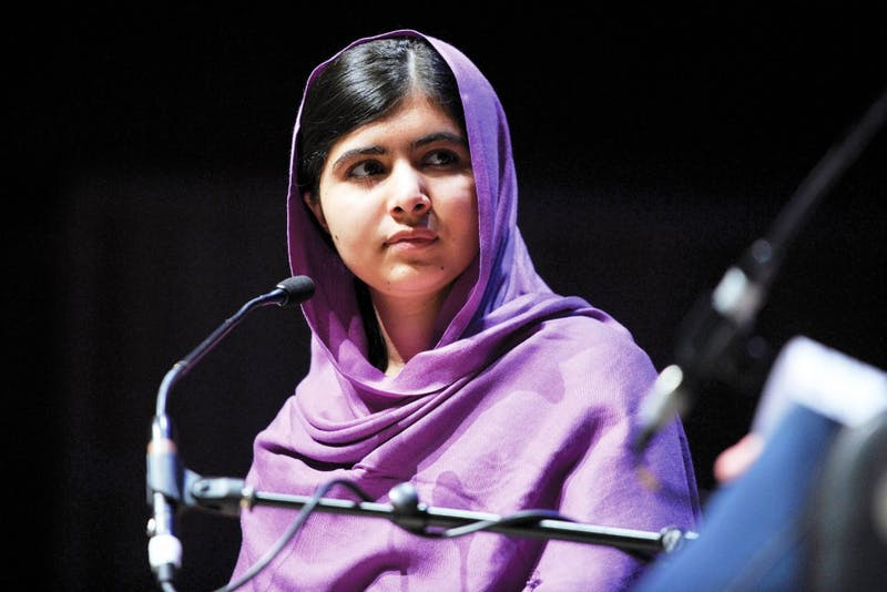 Malala Yousafzai spoke on equal access to education at DePauw on Monday. (Photograph provided by Wikimedia Commons)