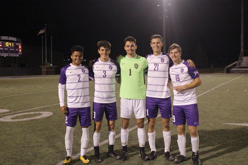 Taylor honored five seniors last Saturday night
