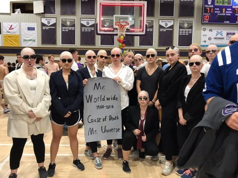 Second West Olson dressed up as Pitbull for the 2018 Silent Night Game.