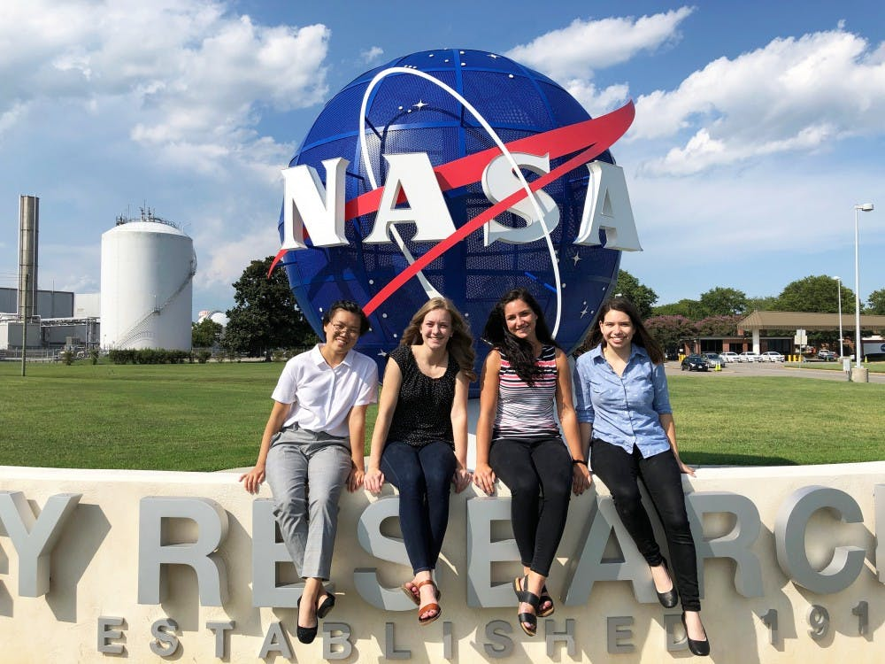 Senior interns at NASA over summer
