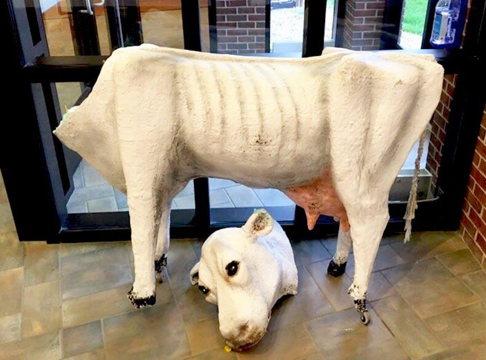Student sculpture vandalized