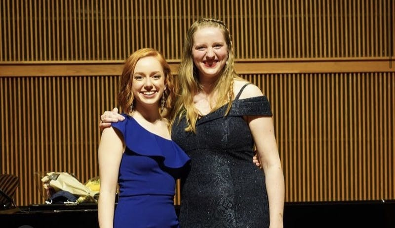 Madeline Logan and Victoria Koro took the stage for their senior recital on Mar. 30, 2020. (Photo Provided by Madeline Logan).