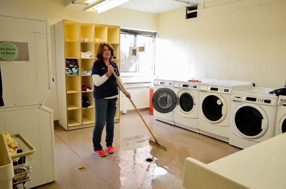 English laundry room floods three times
