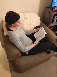 Senior Julia Clark reading her Bible