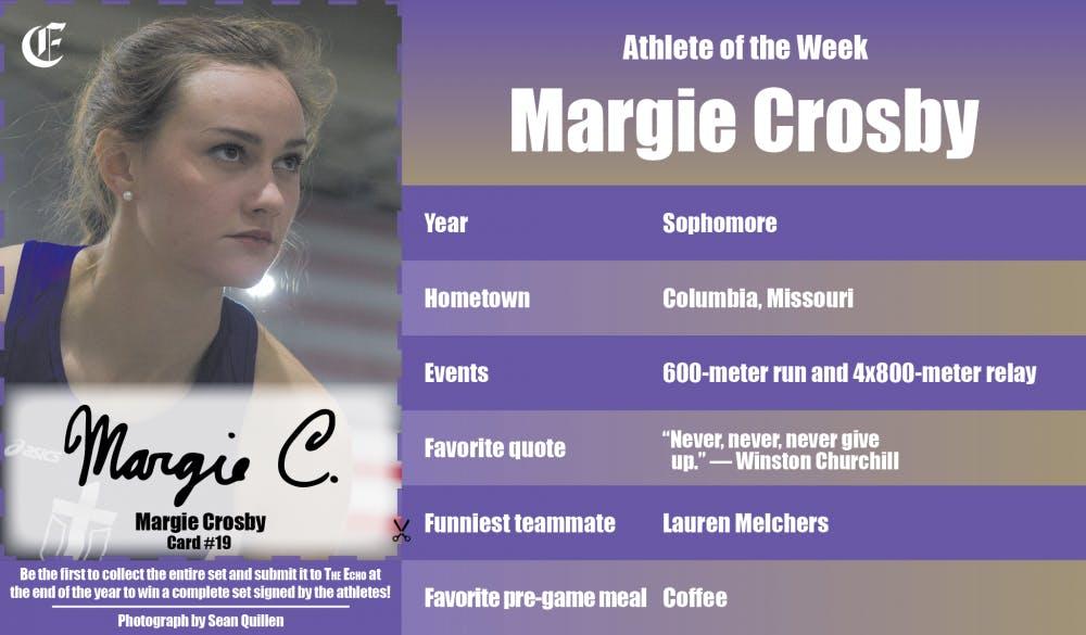 Athlete of the Week – Margie Crosby