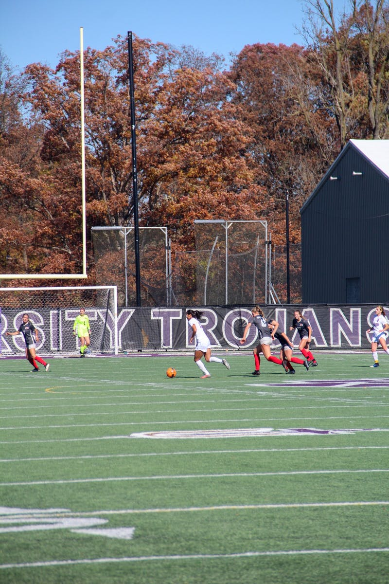 The women's soccer team wrapped up their regular season with a tie against Indiana Wesleyan.