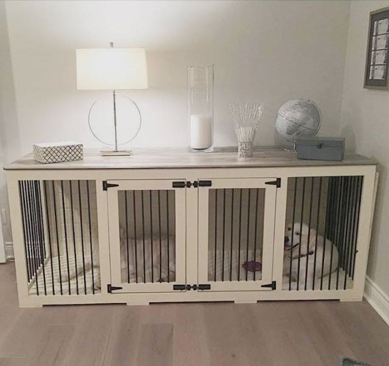 One of the homemade dog kennels created by B&B Kustom Kennels. (Photo provided by Bethany Rathman)