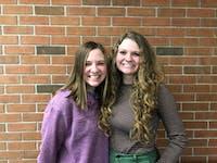 Third English PAs Emily Kimball (left) and Lydia May (right)