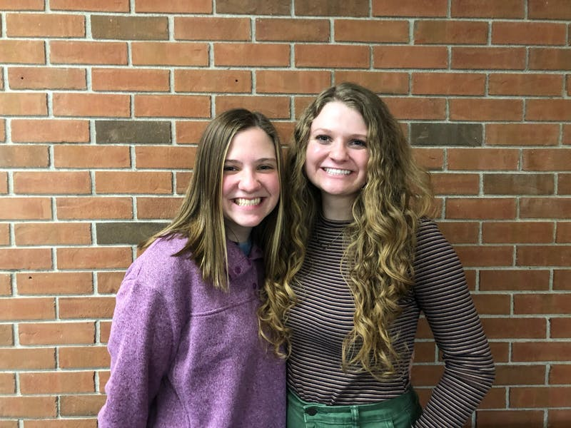 Third English PAs Emily Kimball (left) and Lydia May (right)