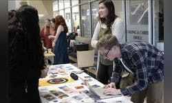 Students look to make sales during Shop the Loop in 2019.
