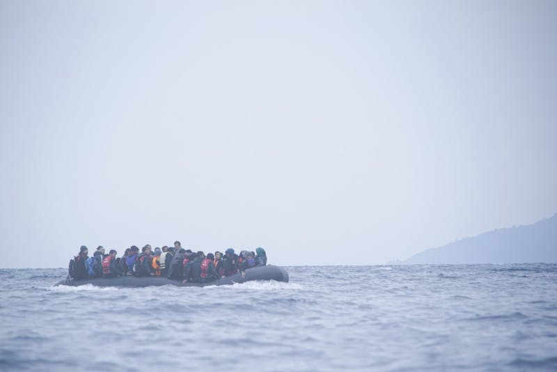Refugees who survive the Mediterranean face colder climates as winter sets in. Photograph provided by Mstyslav Chernov/Unframe
