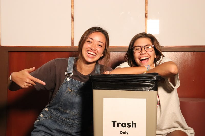 Trash Talk hosts Jenna Orellana and Stephanie Gianopulos