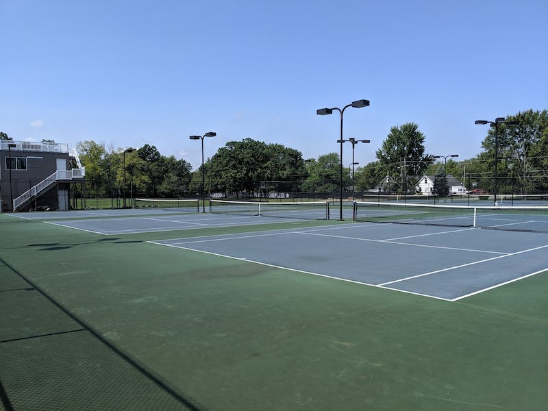 The tennis courts at Taylor didn't stay empty for long