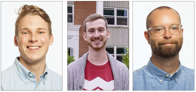 Taylor's newest hall director additions are Josiah Peterson, Jacob Gerding and Matthew Beck.