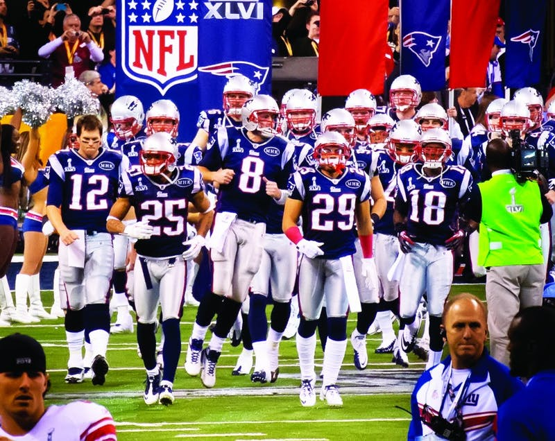 The New England Patriots will take the field Sunday to make their eight Super Bowl appearance in 16 years. Why cheer for them to fail? (Photograph provided by Wikimedia Commons)