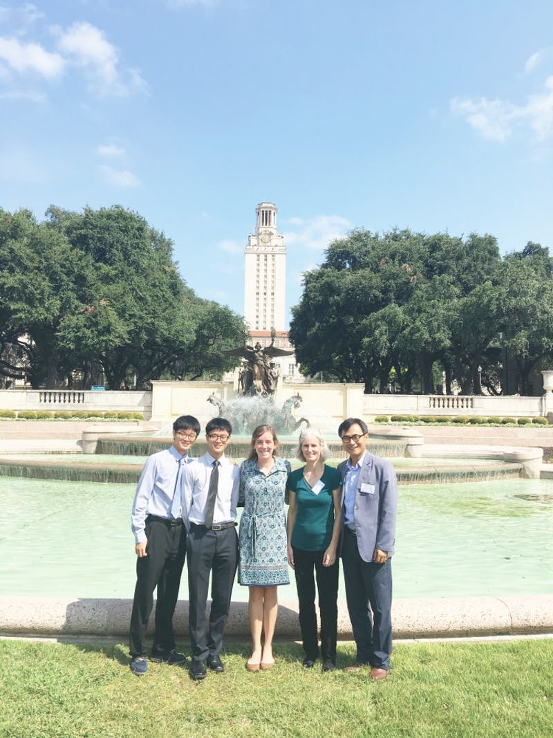 Juniors Won and Han Chang, senior Anna Meyer, Greta Kiers, and A. Chin Chang attend the Texas Linguistics Society conference and represented Taylor in Texas. (Photograph provided by A. Chin Chang)