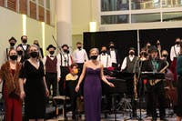 """Taylor Chorale performed their show, """"Trouble on Reade Avenue,"""" on Mar. 19. (photo by Anna Collins)."""