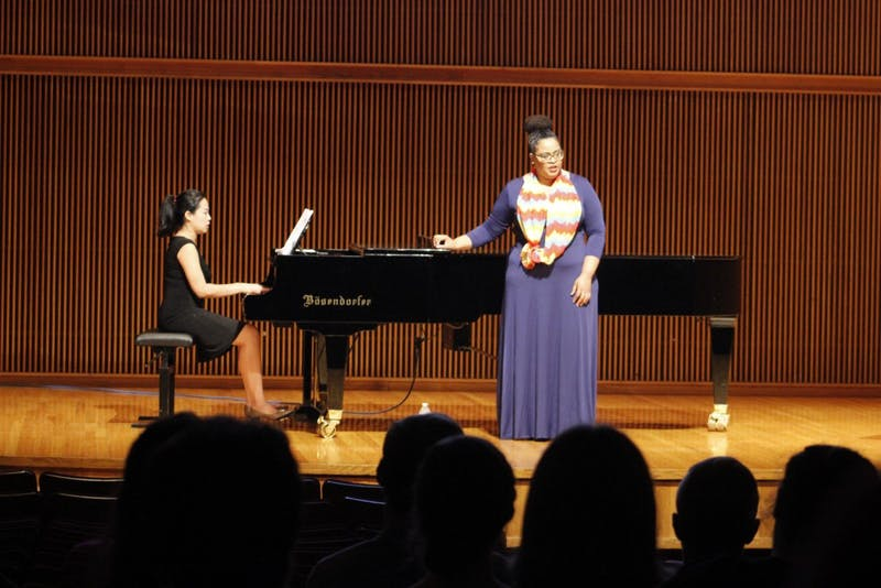 Guest singer Maegan Pollanias and pianist Nina Lee cover a sample of Caribbean art songs composed by Dominique Le Gendre.