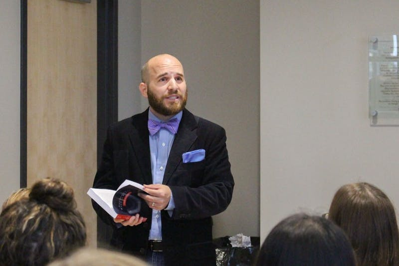 On Sept. 30, Draper hosted a book release and signing at Taylor University. (Photo by Hannah Bolds)