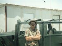 Alan Blanchard during his tour of duty in Saudi Arabia in 1991.