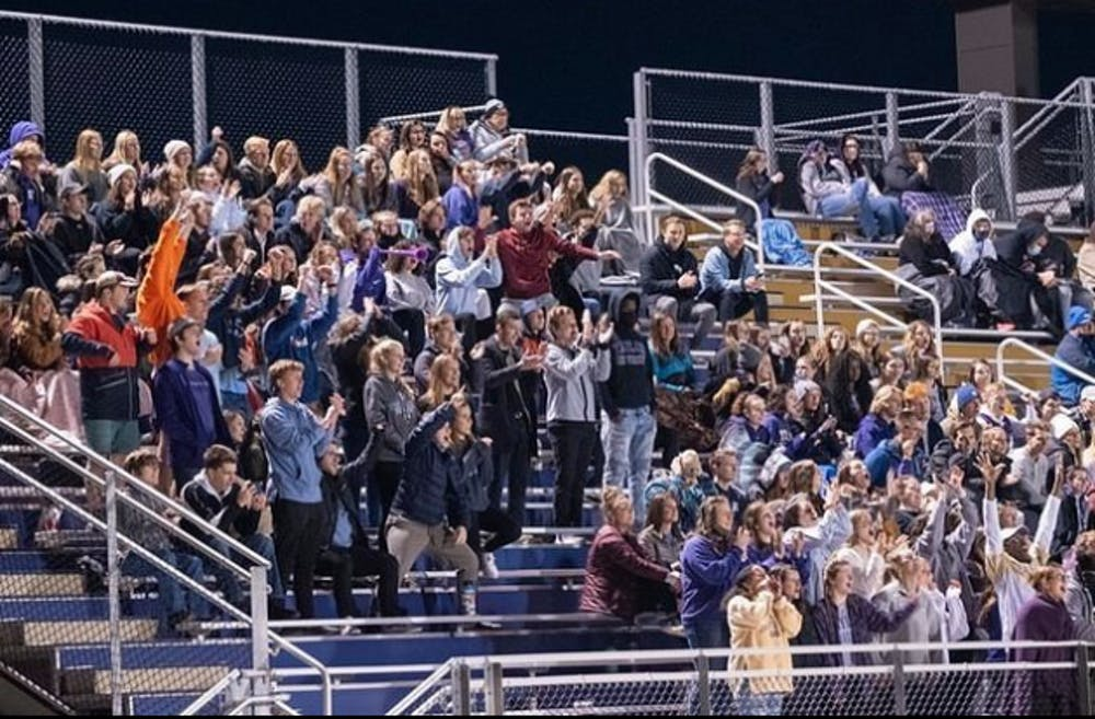 Student section brings the energy to football