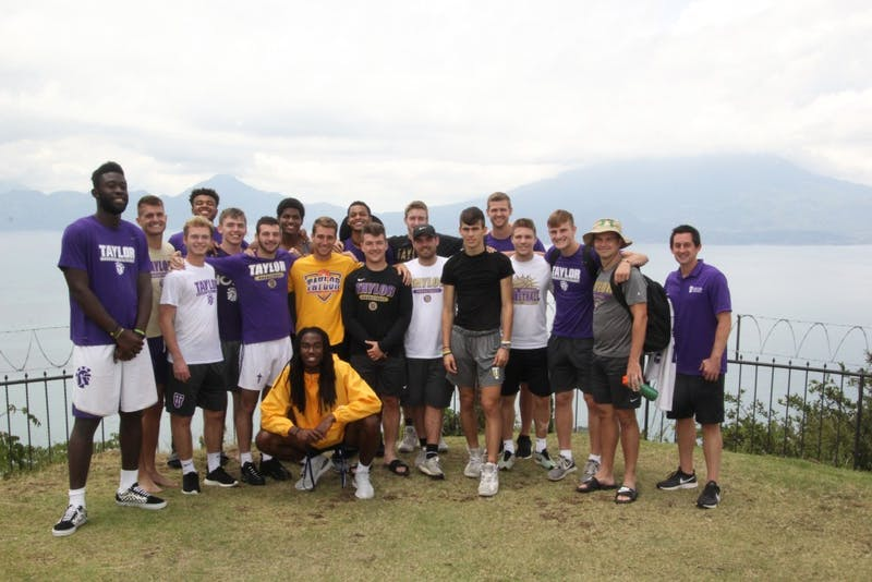 The Taylor men's basketball team took a missions trip to Guatemala this summer
