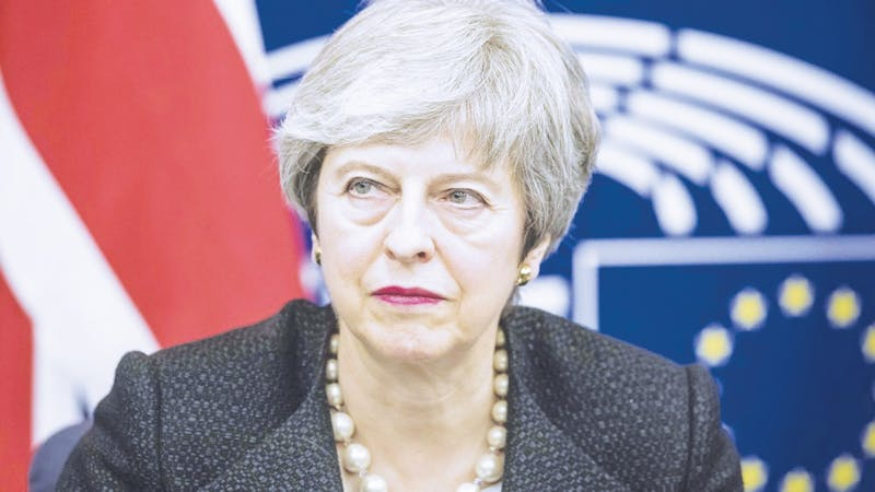 British Prime Minister Theresa May said she would step down as prime minister if Parliament approves her deal. Photo provided by Google.