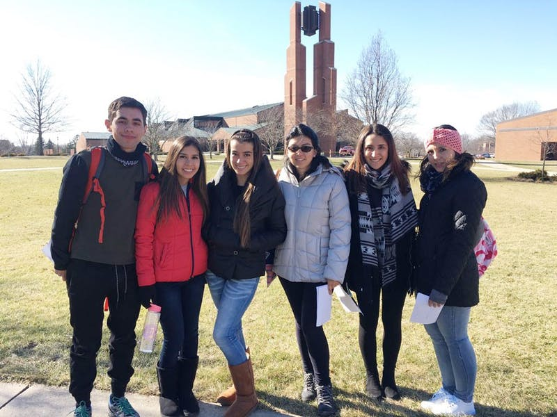 The six Ecuadorian students part of Discover include: (L to R) Juan Vintimilla, Paulina Salamea, Belen Maldonado, Cristina Cordova, Rafaela Ruiz and Daniela Ledesma. (Photo provided by Juan Vintimilla)