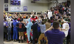 Photograph provided by Taylor AthleticsSilent Night has a history of attracting crazy costumes and many dedicated students.