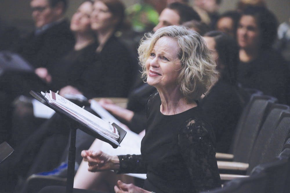 JoAnn Rediger, retiring professor of music, has taught at Taylor for 26 years.