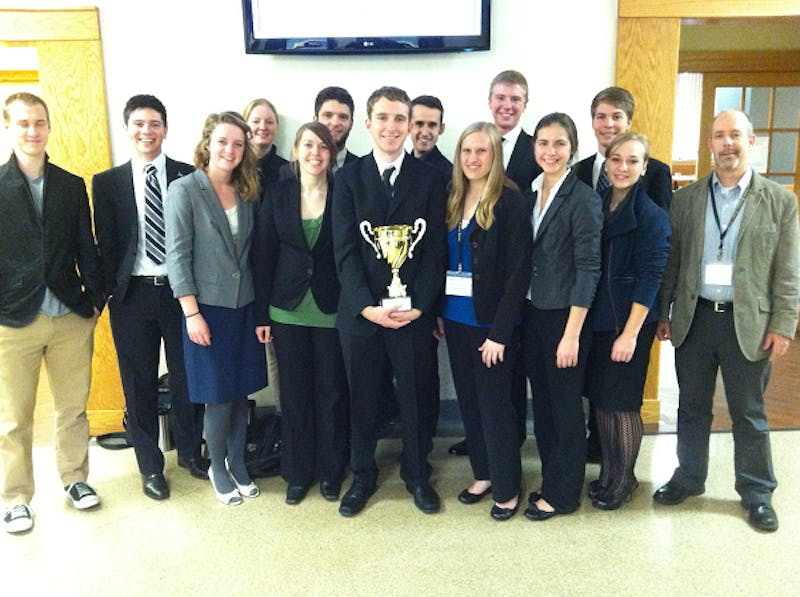 The Taylor Ethics Bowl team finished second at a national competition in San Antonio Thursday.