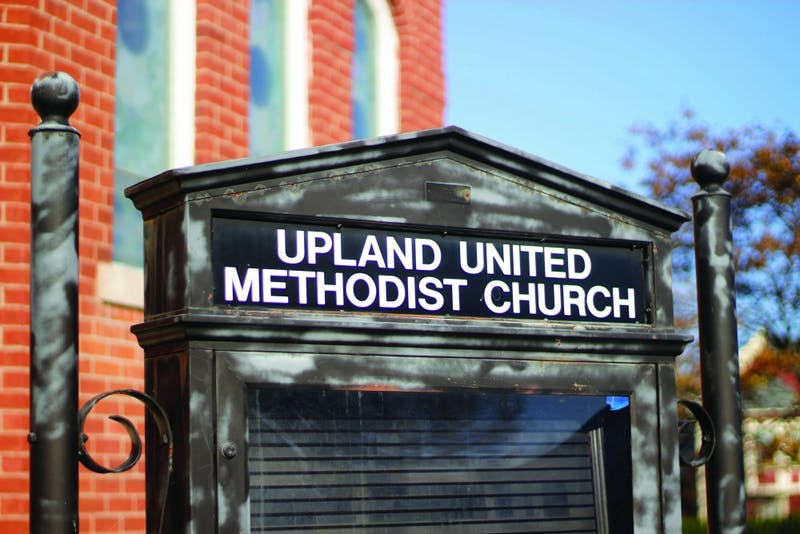 The United Methodist Church has been become Taylor property through the exchange of $1. (Photograph by Riley Hochstetler)