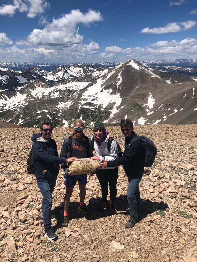 Rose White and fellow interns hike in Colorado.