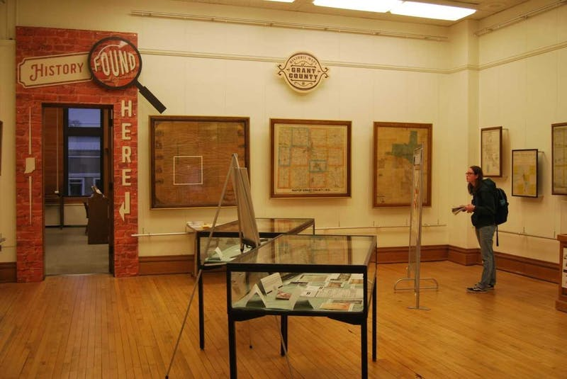 People can look at the new museum exhibit in the Marion Public Library's department of Indiana History and Genealogy.