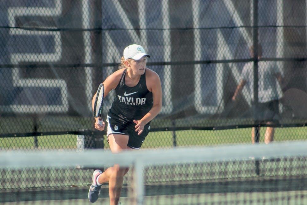 Taylor women's tennis falls from Grace