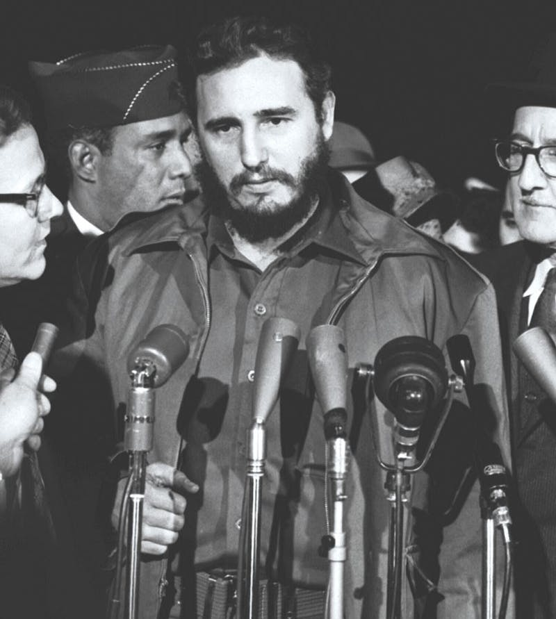 Fidel Castro upon arrival at MATS Terminal in Washington, D.C. in 1959. Photo by Library of Congress Prints