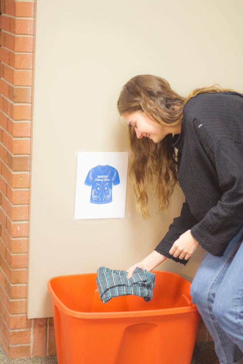 There are many ways to give back this holiday season, as demonstrated by sophomore Caroline Massey.
