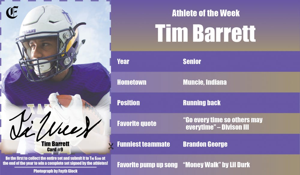 Athlete of the Week – Tim Barrett