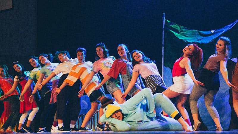 Students perform in 2019's Airband.