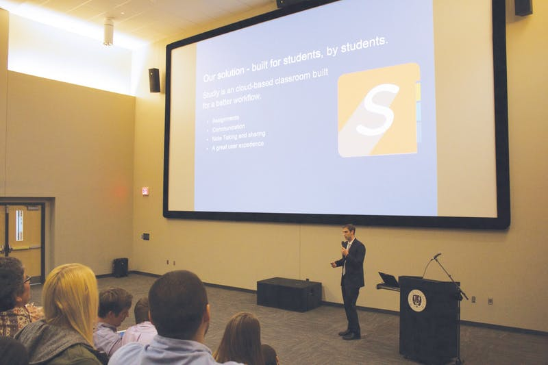 Students pitch business ideas for post-graduation. Shark Tank is in its sixth year at Taylor.