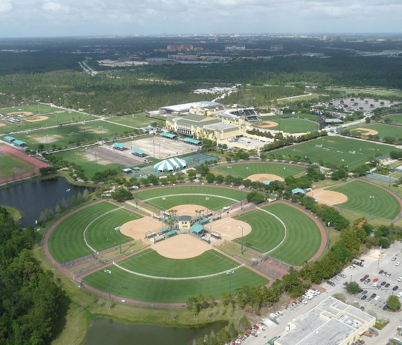 The NBA played the end of their season in Disney's Wide World of Sports complex.